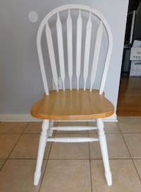 Windsor Solid Nature/White Wood Dining Chair  CHANTILLY