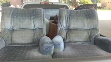 Set of blue recliner chairs