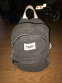 Black and white stripped Aritiza TNA backpack