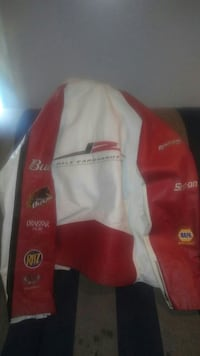 red and white Dale Earnhardt printed racing jacket Bowie, 20716