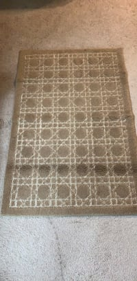 brown and white area rug Leesburg, 20176