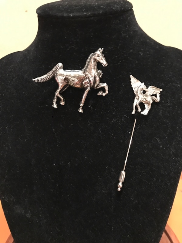 Two Silver Horse Pins 1