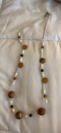 Wood beaded necklace Medford, 02155