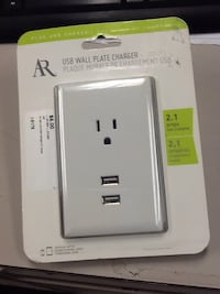 AR USB wall plate charger 2.1 amps 68 km