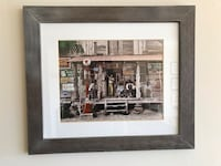 Grey IKEA frame includes photo artwork of American scene in gas station Bethesda, 20814