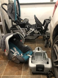 Double stroller with car seat Boisbriand, J7H 1P8