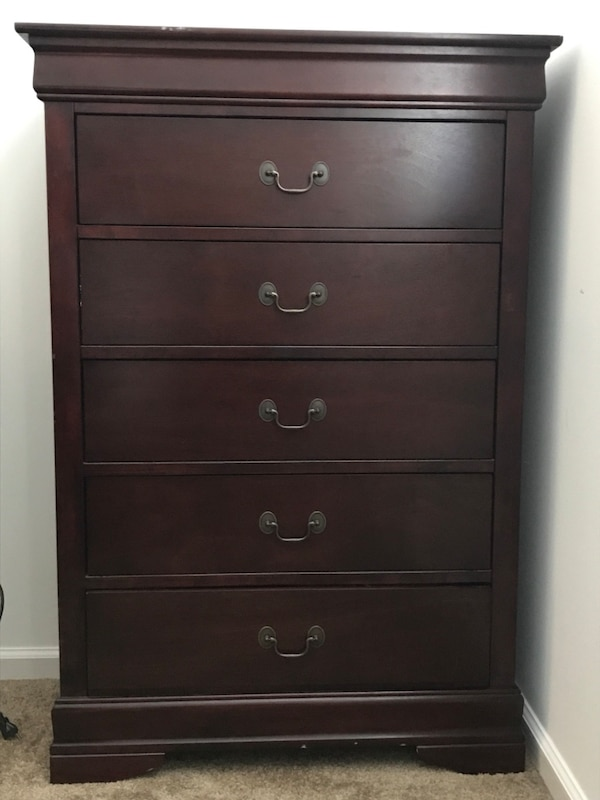 used solid cherry full bedroom set for sale in virginia