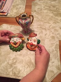 Ceramic figurines and Vase