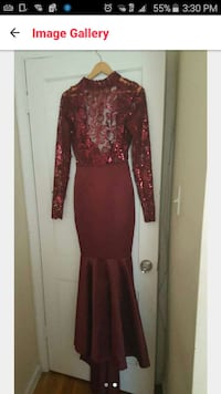 prom dress whom once fits size 2-4  slim waist Maryland, 20745