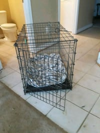 black metal folding dog crate Occoquan, 22125