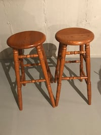 Two brown wooden bar stools NEW Innisfil, L9S 0A4