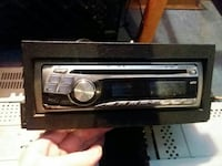 silver one-DIN car stereo Portage