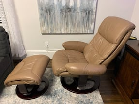 Euro chair recliner with ottoman