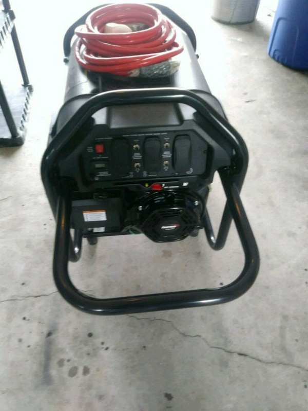 black and red portable generator