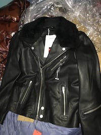 black leather biker's jacket
