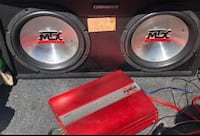 Black and red MTX subwoofer speaker and Sony xploid amp Atlanta, 30339