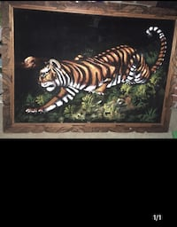 Tiger on a prowl wall decor/ 27 1/2x 3'1 (inches) Bowie, 20715