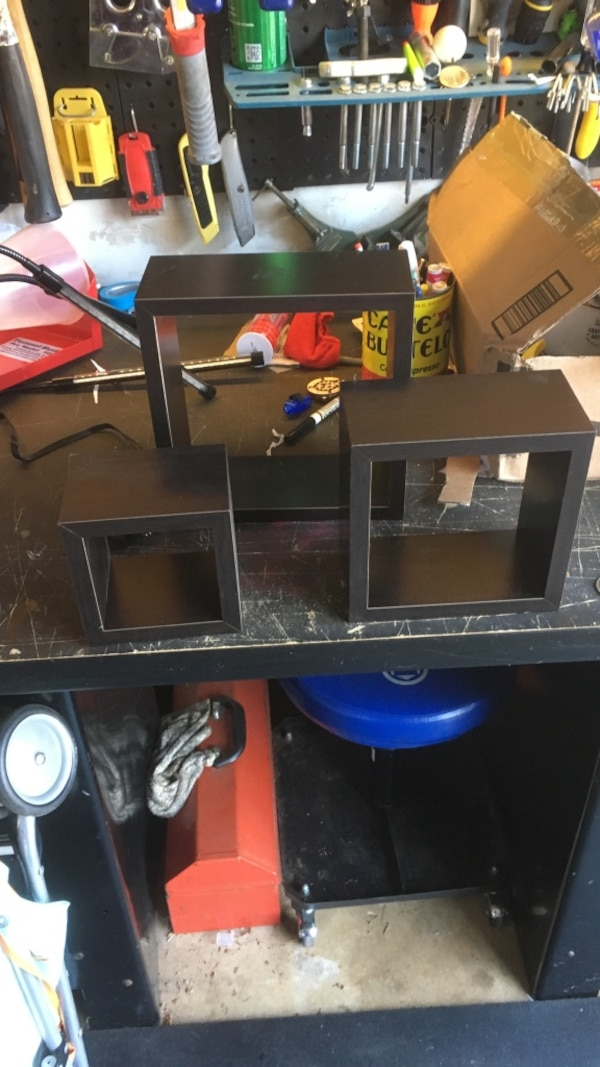 3 decorative shadow boxes.  Used