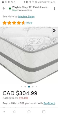 "Brand new 12"" & 14""  plush mattresses  Guelph, N1E 1M8"