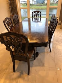Wooden Rectangle dining table with 6 chairs Beaumont, T4X