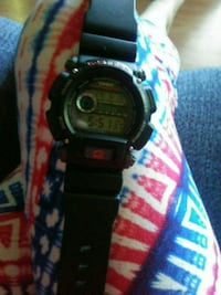 Mens red and black g shock watch