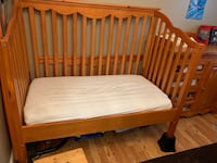 Crib (converts to toddler bed) and changing table dresser  Hampton, 23669