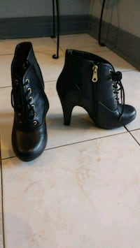 Black lace up heel boots Mississauga, L5M 0G5