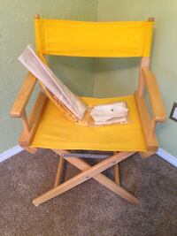 Yellow and white wooden chair Regina, S4S 3A3