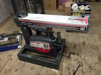 black and red Craftsman table saw 408 mi
