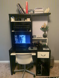 IKEA desk with hutch and chair