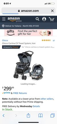Baby's black and gray travel system screenshot Los Angeles, 91343