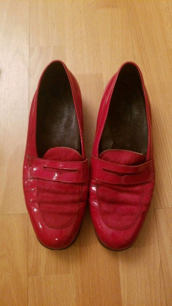 ebab3d132 Red Patent and Fur Shoes. HomeUsed Fashion and Accessories in New York ...