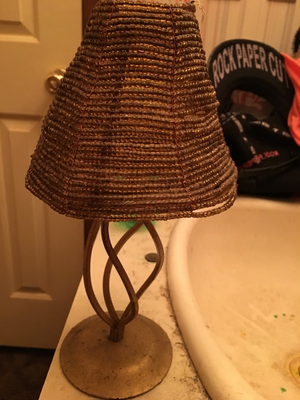 Hand beaded candle holder