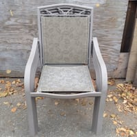 gray and white wooden armchair