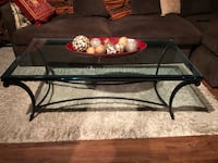 black metal framed glass top coffee table Vienna, 22042