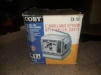 "Coby 5"" Black and White TV AM/FM Radio Alexandria"