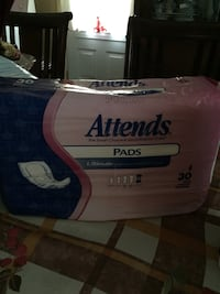 Attends Ultimate incontinence pads.Over night protection.Pack of 30($25Pack of 30 Montréal, H1R