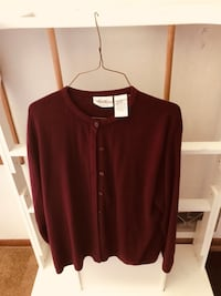 Maroon long-sleeved sweater size on the tag  Minneapolis, 55402