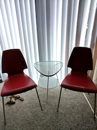 two red chairs $10 each Vacaville, 95688