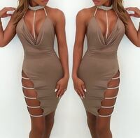 Brown Bandage Sleeveless Cocktail Dress  Las Vegas, 89119