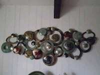 Colorful..CIRCLES (Multi- Colored Earth Tone) Metal Wall Art