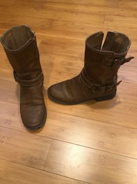 G by Guess Brown Leather Women's Boots Size 7 Shoes Oakton, 22124