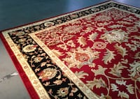 7.10X10.10 Red Area Rug Sterling