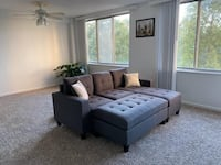 Brand new grey linen sectional sofa with ottoman Silver Spring, 20902