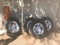The tires have to be replaced BUT the rims are in great shape  Albuquerque