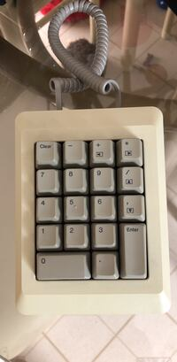 Vintage Apple Computer Numeric Keypad - Macintosh 128k 512k Plus - Very Nice. Model No. M0120 Very Collectible / Rare .  Great Apple Must Have For Your Vintage Collection. If you are reading this it is still available. No Holds  Farmington Hills, 48336