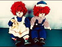 Collectible Limited Edition Raggedy Ann & Andy Porcelain Dolls Draper, 84020