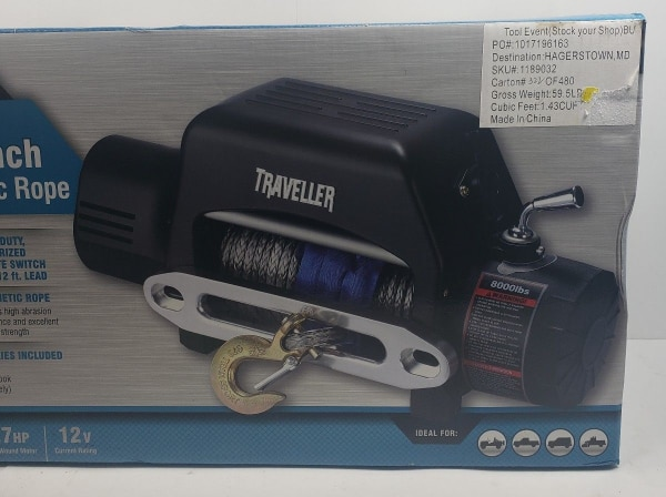 3954e9d3f2e5 Used NIB Traveller 12V 2.7HP Electric Truck Winch 8000 lb. Capacity Never  Opened! WOW for sale in Poughkeepsie - letgo