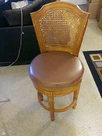 brown leather padded armless chair Chillum, 20782