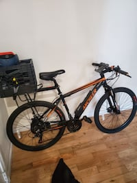 Highly rated Ancheer ebike with added phone mount, silicon grips, rack